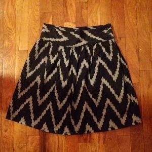 7 For All Mankind Chevron Denim Skirt