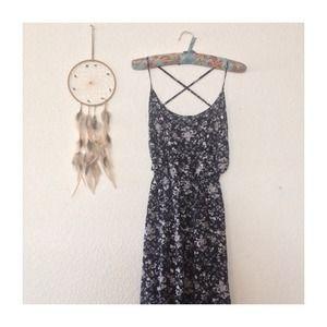 RARE Brandy Melville Floral Maxi Dress
