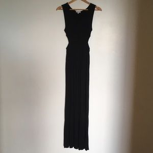 Black cutout maxi dress