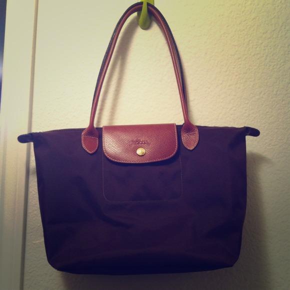 Longchamp Handbags - Authentic Longchamp LePliage Brown Long Handles 1c22fa0e7ae67