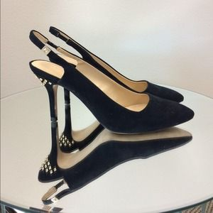 Zara Vamp Shoe with Studded Heel