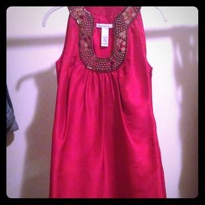 Red silk Laundry cocktail dress