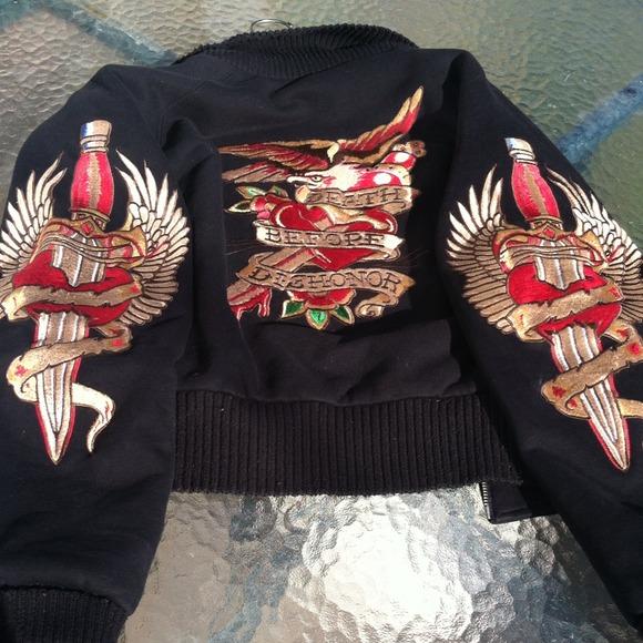 AG Adriano Goldschmied Jackets & Coats   Tattoo Bomber Jacket   Poshmark