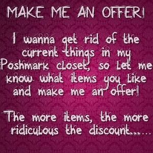 MAKE ME AN OFFER SALE