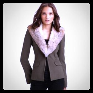 Elizabeth and James REAL rabbit fur lined blazer!