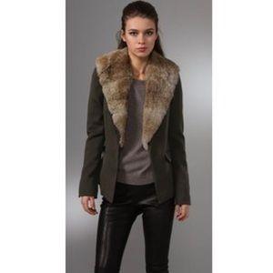 Elizabeth and James rabbit fur lined blazer!