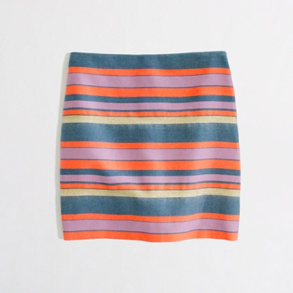 J. Crew Skirts - BUNDLED! 💚 j. crew • shiny striped mini skirt
