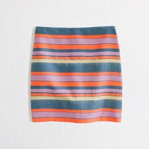 J. Crew Skirts - BUNDLED! 💚 j. crew • shiny striped mini skirt 2