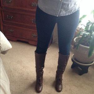 New, never worn heel booties