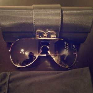 Authentic Dolce & Gabbana aviator sunglasses.