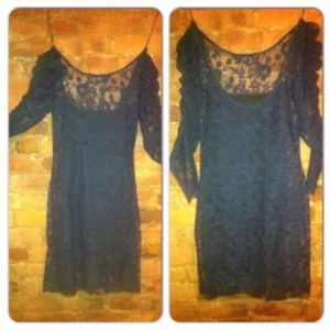 Zara Dresses & Skirts - Zara navy blue lace party dress