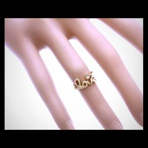 Kristee P Jewelry - Gold Colored Love Knuckle Ring