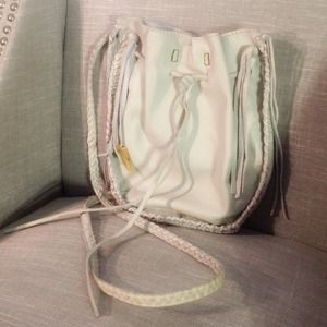 Lucky Brand Off White Leather Crossbody