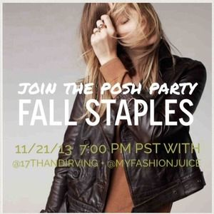 Thanks to all who came to Fall Staples PoshParty