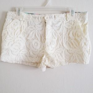Denim - Lace Shorts