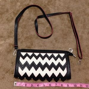 Chevron Black and White Wallet