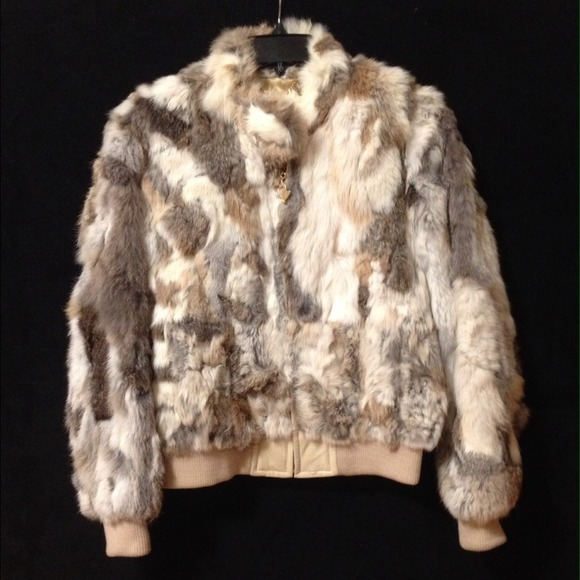 Baby Phat ⛔️sold ⛔️ Baby Phat Multi Color Rabbit Fur