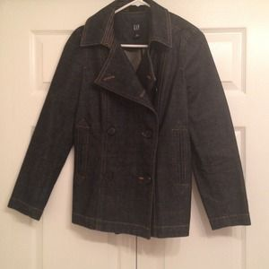 Gap size small jean peacoat jacket