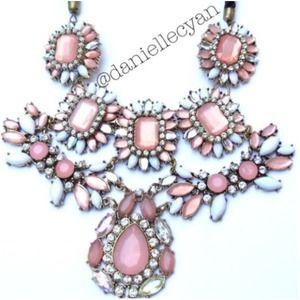 Pastel gems statement necklace