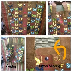 CUTE BAG WITH BUTTERFLY PRINT