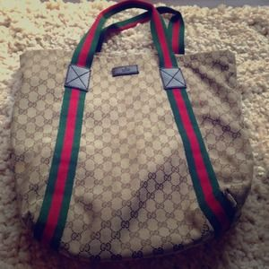 Auth Gucci carry  bag
