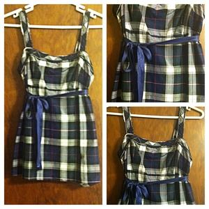 PRICE REDUCED american eagle plaid sleeveless top