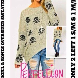 Sweaters - ⚡Flash Sale⚡2 Left 💕💀OVERSIZED HI-LO SWEATER💕💀