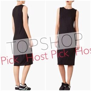 Topshop Textured Midi Dress