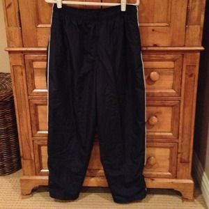 Pants - Nylon warm up pants Cotton liningSide slit pockets