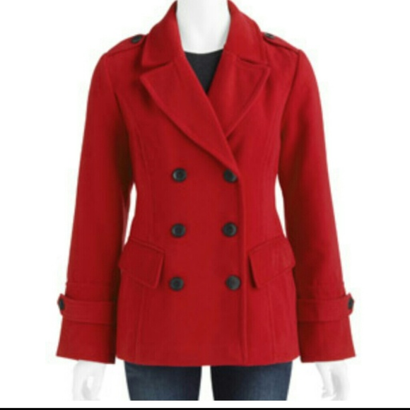 33% off Outerwear - Red double braeasted pea coat (runs big) from ...