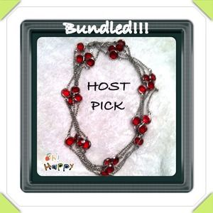 Jewelry - Bundled! HOST PICK 2/28  silver and red necklace