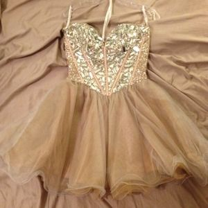 💥sold💥Sherri hill corset mini dress