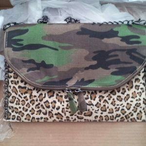 Clutches & Wallets - Leopard + Camo envelope clutch