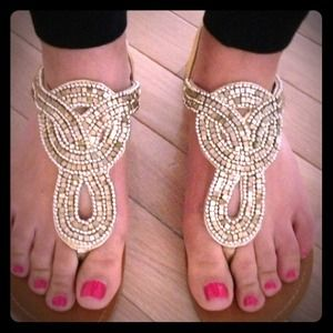Trendy beaded sandals from Turkey