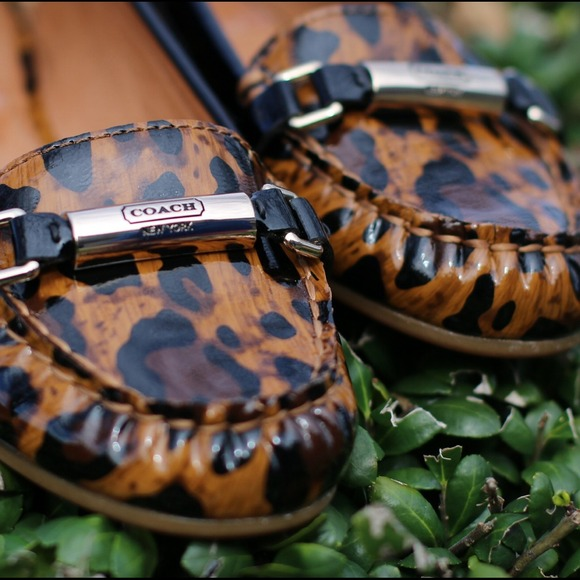 Coach Shoes - ⚡️Sale⚡️ Brand new Coach leopard print flats
