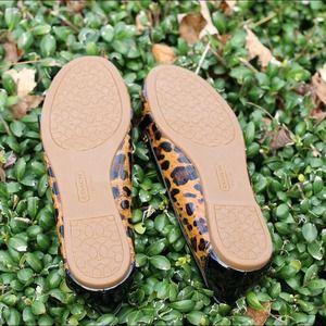Coach Shoes - ⚡️Sale⚡️ Brand new Coach leopard print flats