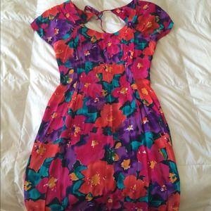 Dresses & Skirts - Vintage water color flower print dress.