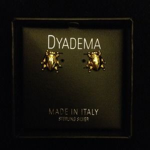 Dyadema Jewelry - Gold plated over 925 silver bugs studs