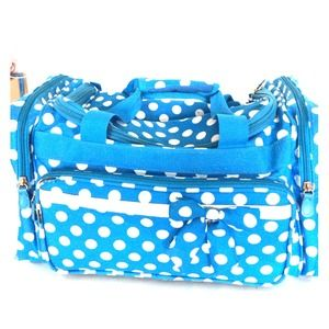 Handbags - Blue and white overnight duffle bag large