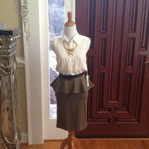 Alice @ Olivia peplum dress.  NWT.