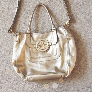 AUTHENTIC GOLD TORY BURCH AMANDA HOBO