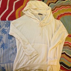 Brandy Melville Sweaters - Brandy Melville Cream Knitted Layla hoodie