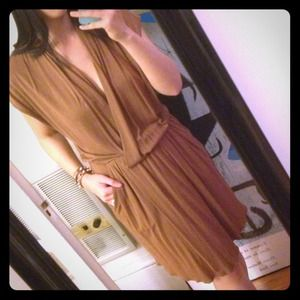Light copper wrap dress