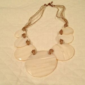 Mother of pearl necklace.