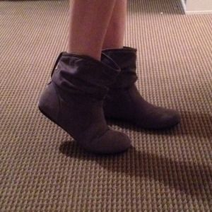 Lower East Side Boots - Grey Suede Ankle Boots