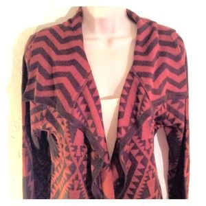 Cute Long Aztec/Tribal & Chevron Print Cardigan❤️
