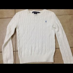 Ralph Lauren cable knit sweater //WHITE