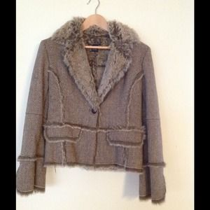 SOLD ‼️Boston Proper Tweed Shearling Blazer