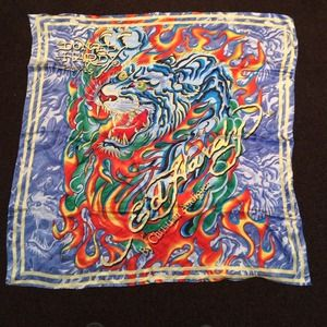Authentic silk ed hardy scarf