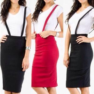 Dresses & Skirts - ⚡FLASH SALE⚡SUSPENDER PENCIL SKIRT  1 Left in Med!